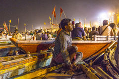 Night view of varanasi from Royalty Free Stock Images