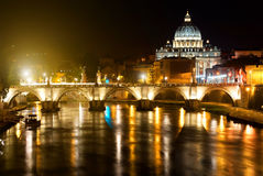 Night view on Vatican Royalty Free Stock Photography
