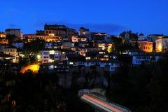 Night View of Veliko Tarnovo Stock Photography
