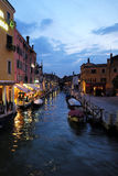 Night view of venetian canal Royalty Free Stock Photography