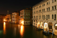Night of view of Venice Royalty Free Stock Image