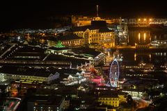 Night View of the Victoria and Albert Waterfront, Cape Town Royalty Free Stock Photo