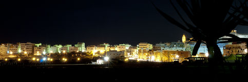 Night view of vieste,italy Royalty Free Stock Photo