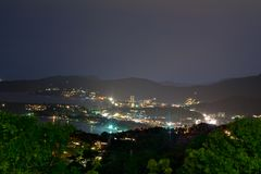 Night view from the viewpoint of Phuket Royalty Free Stock Images