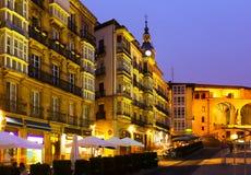 Night view of  Virgen Blanca Square Stock Image