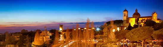 Night View Of Viterbo Lazio Italy Royalty Free Stock Image