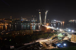 Night view of Vladivostok Royalty Free Stock Photos