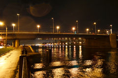 Night view of Volodarsky Bridge in St Petersburg Stock Photography