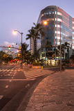 Night view of Waikiki, Oahu, Hawaii Royalty Free Stock Photos
