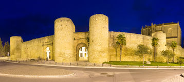 Night view of   walls of Ronda Royalty Free Stock Image