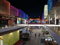 Night view of Wanda Plaza in DONGGUAN with lighting belt Royalty Free Stock Image