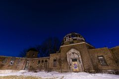 Night View - Warner & Swasey Observatory - East Cleveland, Ohio stock photos