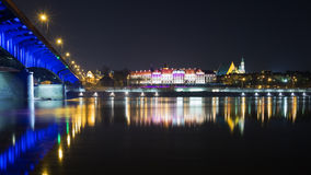 Night view of Warsaw Stock Images