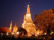 Night  view of Wat Arun in Bangkok Stock Photography