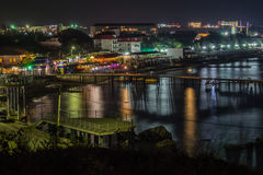 Night view of the waterfront Royalty Free Stock Images