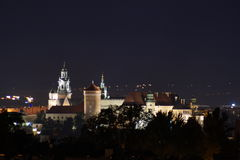 Night. View of the Wawel Castle Royalty Free Stock Images