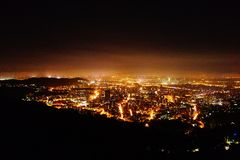 Night view. The whole of Taipei city at night Stock Photo