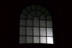 Night view of a window at a outdoor mall Royalty Free Stock Photo