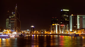 Night view of World trade center in Moscow Royalty Free Stock Image