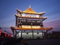 Xi`an tower stock photography