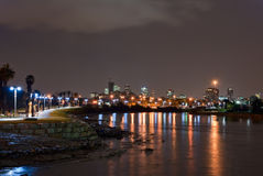 Night view of Tel Aviv Stock Images