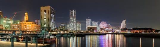 Night view of Yokohama bay, japan. Royalty Free Stock Image