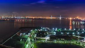 Night view Yokohama Bay Royalty Free Stock Photos