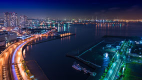 Night view Yokohama Bay Royalty Free Stock Images