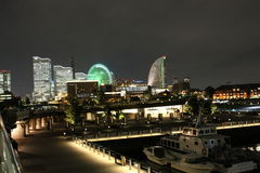 Night View of Yokohama Harbor Royalty Free Stock Images