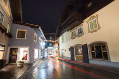 Night view from Zell Am See village. In Salzburg, Austria Stock Photos
