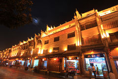 Night view in zhenyuan ancient town in guizhou china Royalty Free Stock Photos