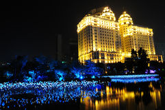 The night view of Zhujiang Investment Building Royalty Free Stock Images