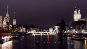 A night view from Zurich Stock Photos