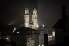 Night view of Zurich Stock Photos