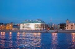 Night views of St-Petersburg Stock Photos