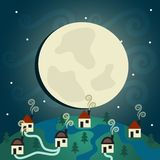 Night Village Royalty Free Stock Images