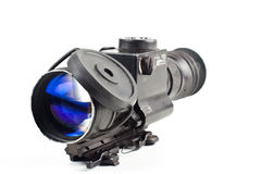 Night vision. Sniper scope isolated on white background Royalty Free Stock Photos