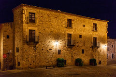 Night vision in Caceres, Spain Royalty Free Stock Photography