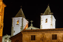 Night vision in Caceres, Spain Stock Photo