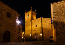 Night vision in Caceres, Spain Royalty Free Stock Images