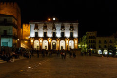Night vision in Caceres, Spain Stock Image
