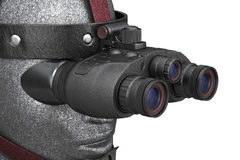 Night vision military device, close view Royalty Free Stock Images