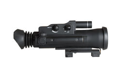 Night Vision Monocular. Isolated on a white background Stock Photography