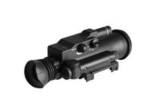 Night Vision Monocular. Isolated on a white background Stock Photos
