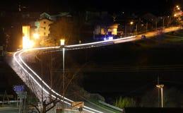 Night vision of a road in friuli venezia giulia in Italy Stock Images