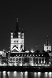 A night vision of Saint Martin Church Stock Images