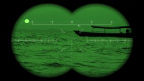 Night vision stock video