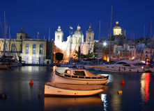 Night Vittoriosa Royalty Free Stock Images