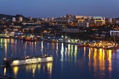 Night Vladivostok. Russia Royalty Free Stock Photo