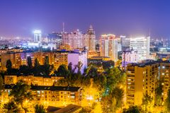 Night Voronezh downtown. Royalty Free Stock Images